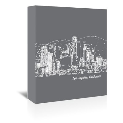 Americanflat 'Skyline Los Angeles 1' by Brooke Witt Graphic Art Wrapped on Canvas
