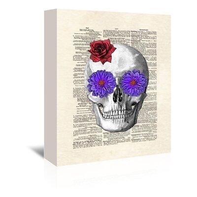 Americanflat 'Sugar Skull' by Matt Dinniman Graphic Art Wrapped on Canvas