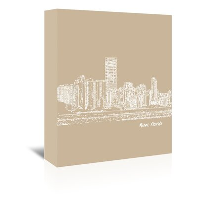 Americanflat 'Skyline Miami 7' by Brooke Witt Graphic Art Wrapped on Canvas