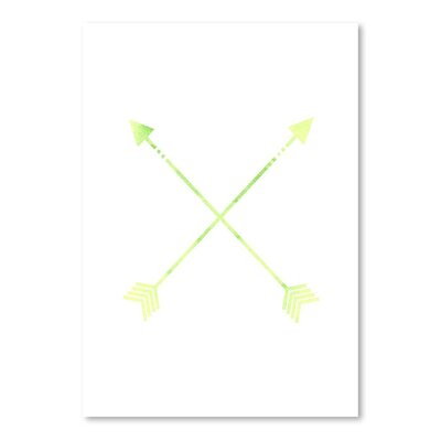 Americanflat 'Watercolour Arrow' by Jetty Printables Graphic Art
