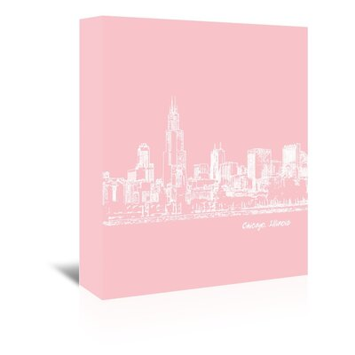 Americanflat 'Skyline Chicago 9' by Brooke Witt Graphic Art Wrapped on Canvas