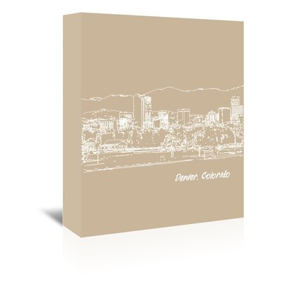 Americanflat 'Skyline Denver 7' by Brooke Witt Graphic Art Wrapped on Canvas