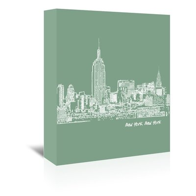Americanflat 'Skyline New York City 6' by Brooke Witt Graphic Art Wrapped on Canvas