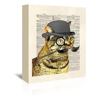 Americanflat 'Dandy Cat' by Matt Dinniman Graphic Art Wrapped on Canvas