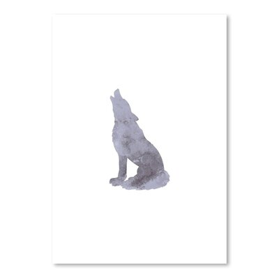 Americanflat 'Watercolour Wolf ' by Jetty Printables Graphic Art