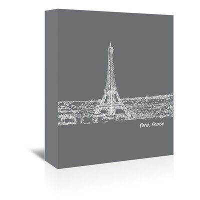 Americanflat 'Skyline Paris 1' by Brooke Witt Graphic Art Wrapped on Canvas