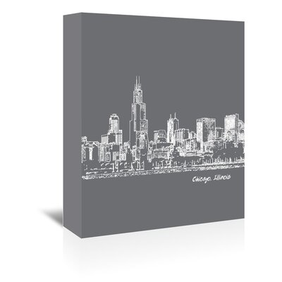 Americanflat 'Skyline Chicago 1' by Brooke Witt Graphic Art Wrapped on Canvas