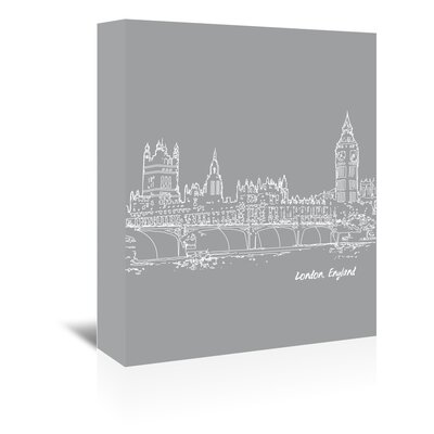 Americanflat 'Skyline London 2' by Brooke Witt Graphic Art Wrapped on Canvas