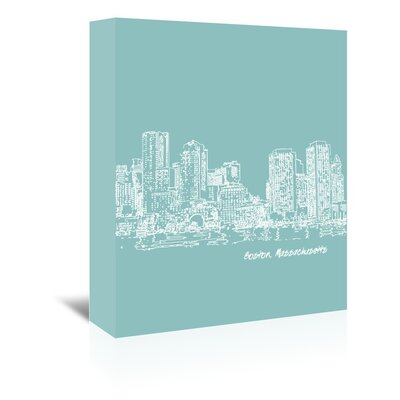Americanflat 'Skyline Boston 5' by Brooke Witt Graphic Art Wrapped on Canvas