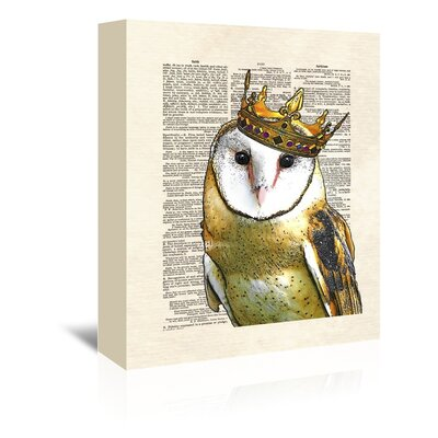 Americanflat 'Owlkingi' by Matt Dinniman Graphic Art Wrapped on Canvas