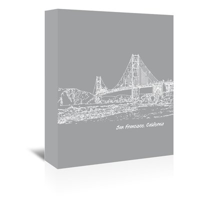 Americanflat 'Skyline San Francisco 2' by Brooke Witt Graphic Art Wrapped on Canvas
