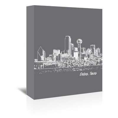 Americanflat 'Skyline Dallas 1' by Brooke Witt Graphic Art Wrapped on Canvas