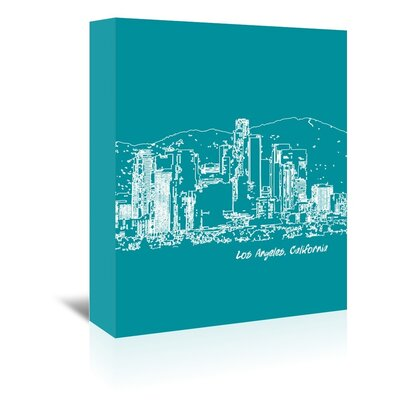 Americanflat 'Skyline Los Angeles 4' by Brooke Witt Graphic Art Wrapped on Canvas