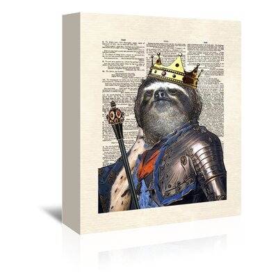 Americanflat 'Sloth King' by Matt Dinniman Graphic Art Wrapped on Canvas