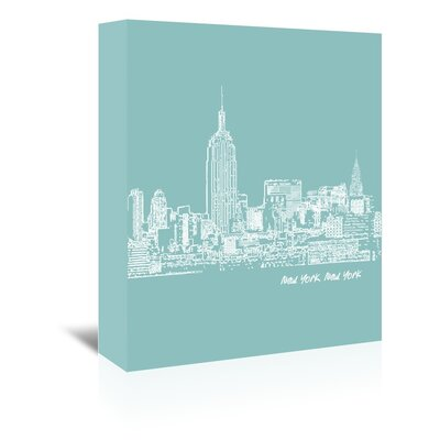 Americanflat 'Skyline New York City 5' by Brooke Witt Graphic Art Wrapped on Canvas