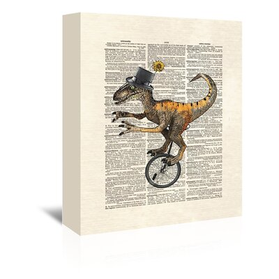Americanflat 'Raptorunicycle' by Matt Dinniman Graphic Art Wrapped on Canvas