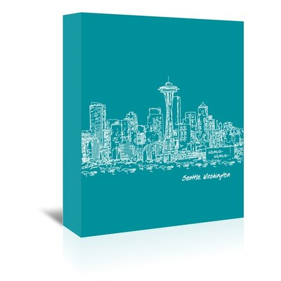 Americanflat 'Skyline Seattle 4' by Brooke Witt Graphic Art Wrapped on Canvas