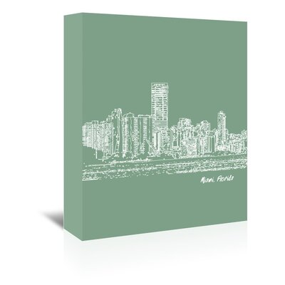 Americanflat 'Skyline Miami 6' by Brooke Witt Graphic Art Wrapped on Canvas