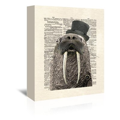 Americanflat 'Walrus' by Matt Dinniman Typography Wrapped on Canvas