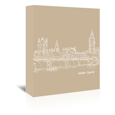 Americanflat 'Skyline London 7' by Brooke Witt Graphic Art Wrapped on Canvas