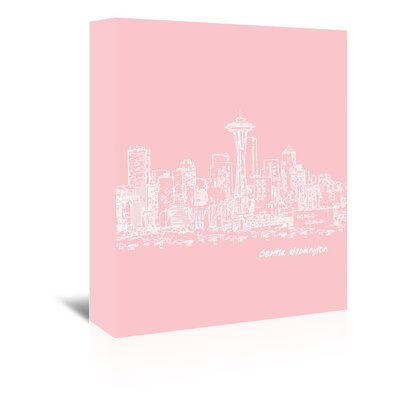 Americanflat 'Skyline Seattle 9' by Brooke Witt Graphic Art Wrapped on Canvas