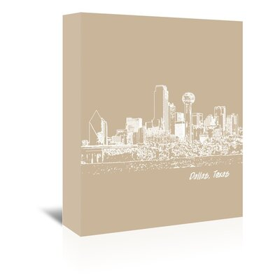 Americanflat 'Skyline Dallas 7' by Brooke Witt Graphic Art Wrapped on Canvas