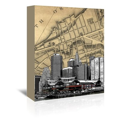 Americanflat 'NYC' by Matt Dinniman Graphic Art Wrapped on Canvas