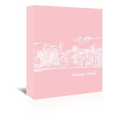 Americanflat 'Skyline Vancouver 9' by Brooke Witt Graphic Art Wrapped on Canvas