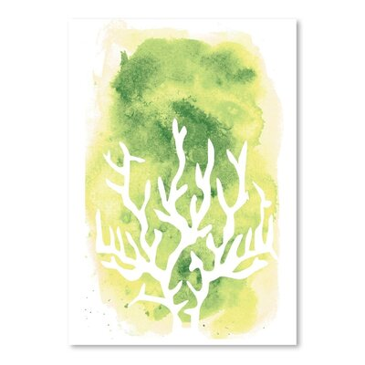 Americanflat 'Watercolour Coral' by Jetty Printables Graphic Art