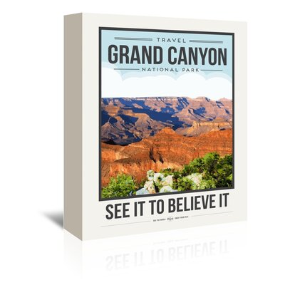 Americanflat 'Travel Poster Grand Canyon' by Brooke Witt Vintage Advertisement Wrapped on Canvas