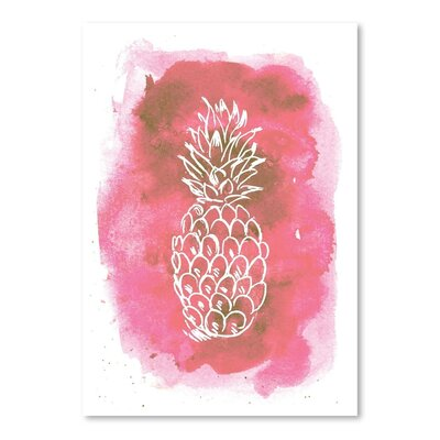 Americanflat 'Watercolour Background Pineapple' by Jetty Printables Graphic Art