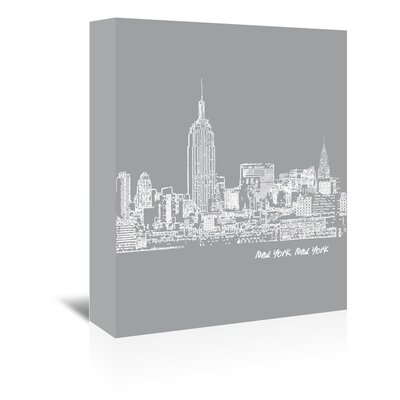Americanflat 'Skyline New York City 2' by Brooke Witt Graphic Art Wrapped on Canvas