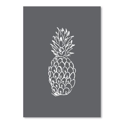 Americanflat 'Pineapple' by Jetty Printables Graphic Art in Grey