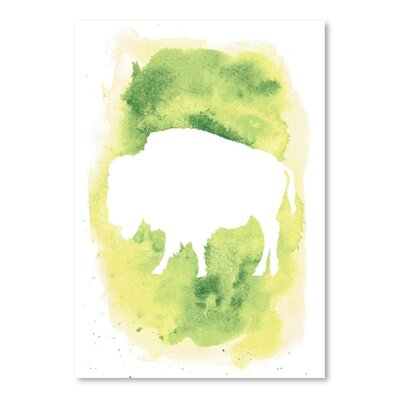 Americanflat 'Watercolour Buffalo' by Jetty Printables Graphic Art