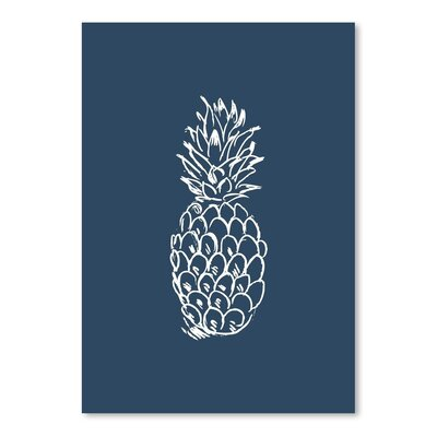Americanflat 'Navy Blue White Pineapple' by Jetty Printables Graphic Art