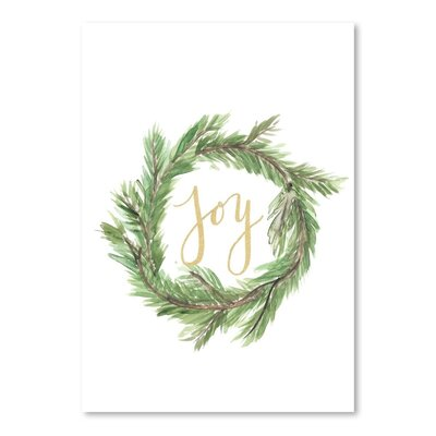 Americanflat 'Wreath Jo' by Jetty Printables Typography