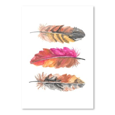 Americanflat 'Tri Feather 1' by Jetty Printables Art Print