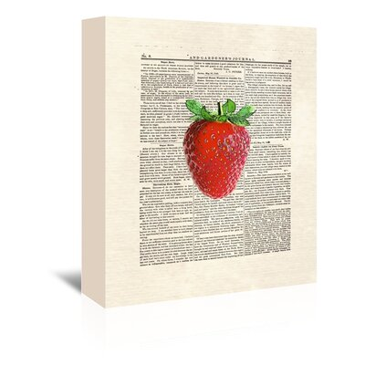 Americanflat 'Strawberry' by Matt Dinniman Graphic Art Wrapped on Canvas