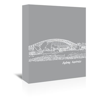 Americanflat 'Skyline Sydney 2' by Brooke Witt Graphic Art Wrapped on Canvas