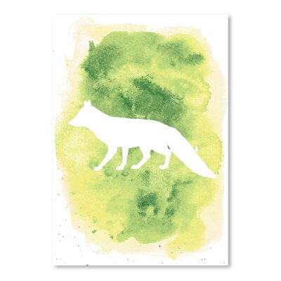 Americanflat 'Watercolour Fox' by Jetty Printables Graphic Art