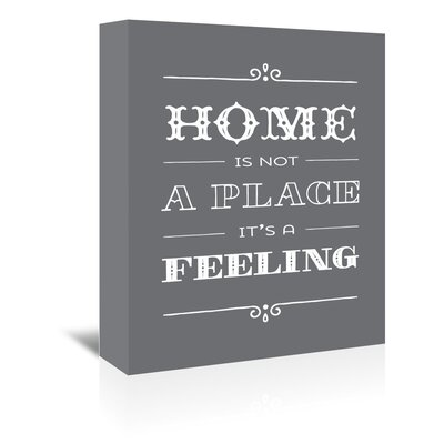 Americanflat 'Type Home' by Brooke Witt Typography Wrapped on Canvas