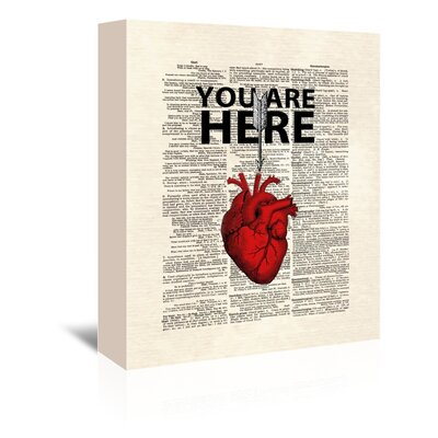 Americanflat 'You Are Here' by Matt Dinniman Graphic Art Wrapped on Canvas