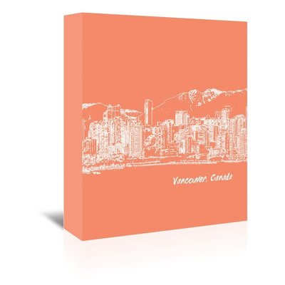 Americanflat 'Skyline Vancouver 8' by Brooke Witt Graphic Art Wrapped on Canvas