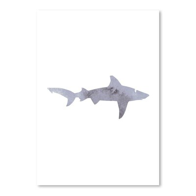Americanflat 'Grey Watercolour Shark' by Jetty Printables Graphic Art