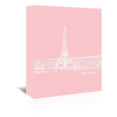 Americanflat 'Skyline Paris 9' by Brooke Witt Graphic Art Wrapped on Canvas