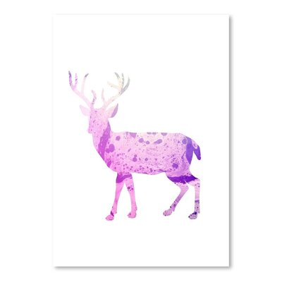 Americanflat 'Psychedelic Deer Body' by Jetty Printables Graphic Art