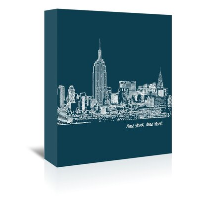 Americanflat 'Skyline New York City 3' by Brooke Witt Graphic Art Wrapped on Canvas