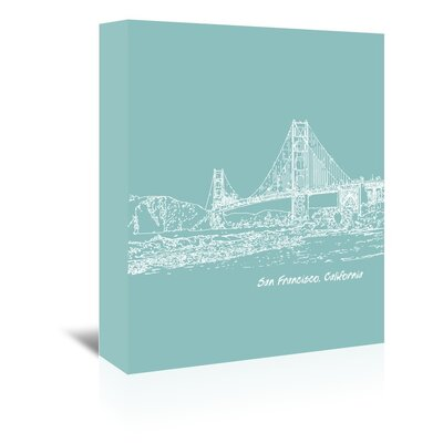 Americanflat 'Skyline San Francisco 5' by Brooke Witt Graphic Art Wrapped on Canvas