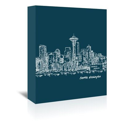Americanflat 'Skyline Seattle 3' by Brooke Witt Graphic Art Wrapped on Canvas