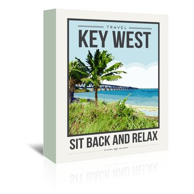 Americanflat 'Travel Poster Key West' by Brooke Witt Vintage Advertisement Wrapped on Canvas